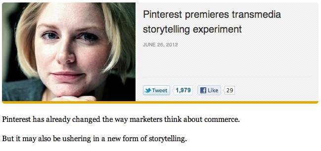Pinterest premieres transmedia storytelling experiment | The Daily dot @dailydot #BeatGirl