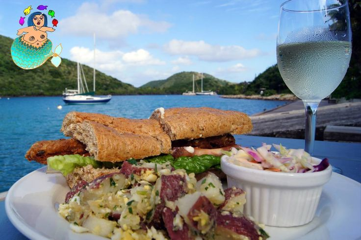 Virgin islands food at cafe roma, emily browning tities