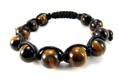 """12mm All Authentic Tiger Eye Bead Adjustable Bracelet + Gift Box Miami Jewels. $18.95. Bracelet Sits and Feels Great on Wrist. It Weighs 32 Grams or 1.1 Oz.. Very Well Crafted Using Waxed Cord for Extra Shine and Durability.. 7.5"""" to 10"""" Adjustable Bracelet.. 100% Satisfacition Guaranteed or Your Money Back!. 12MM All Natural Tiger Eye Macrame Bracelet. Save 65%!"""
