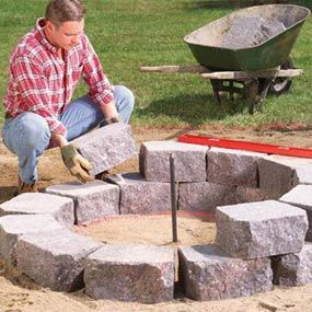 "Fire pit, ""this"" weekend project :) Here Ya go Erin something for your hubby to do this weekend!"