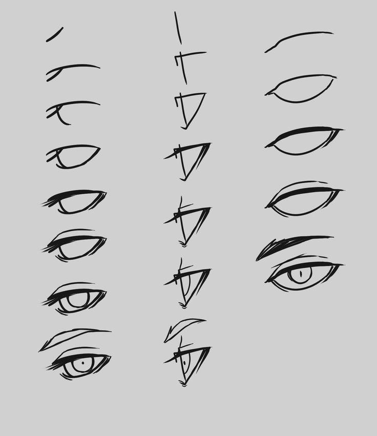 Anime Character Design Process : Eye process by hootsweet viantart on deviantart