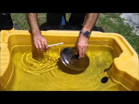 """Water play & music exploration - Child's Play Music.  This is wonderful for PreK/ K exploration!  The point is to let them discover on their own, and eventually to scaffold (or guide) your students into making new discoveries.  """"What else could you do with this lid to make a different sound?""""  """"I wonder what would happen if..."""" """"What kind of sound did that make?""""  """"Which worked better?"""" You'll be amazed at what they come up with and the language they use to explain their process."""