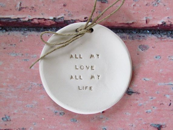 Ring bearer pillow alternative, Wedding ring dish All my love All my life