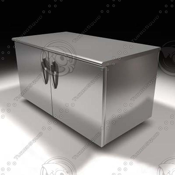Truespace Under Counter Industrial Refrigerator Convenience   3D Model