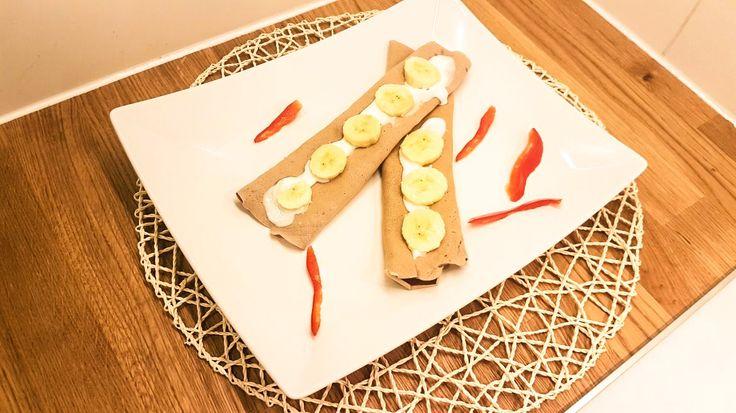 Naleśniki czekoladowo budyniowe