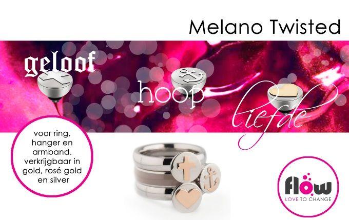 Geloof, hoop en liefde.... De nieuwe zettingen van Melano Twisted zijn geweldig om bij elkaar te dragen maar ook los zijn het erg leuke zettingen. Een musthave! www.flow.nl