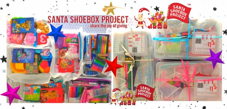 Santa Shoebox 2017. #queenm <3