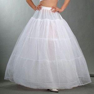 3フープふくらんスカートリングパニエのウェディングドレス弾性ウエストペチコート