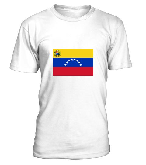 # National Flag of Venezuela .  Get this BEST-SELLING T-ShirtCHECK OUT OUR SHOP!Guaranteed safe and secure payment with:Best quality on the market, great selection of colors and styles!Venezuela is a South American country on the northern coast. It borders on Brazil, Colombia and Guyana.(Flag, South America, the Caribbean, Venezuela, Caracas, Maracaibo, Valencia, Canaima, Spanish, Colony)