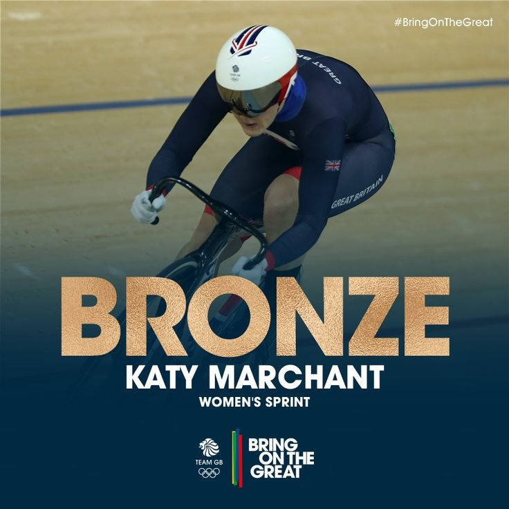 "Team GB on Twitter: ""YES!!!! In her first Olympics,Katy Marchant brings home the bronze in the women's sprint cycling"