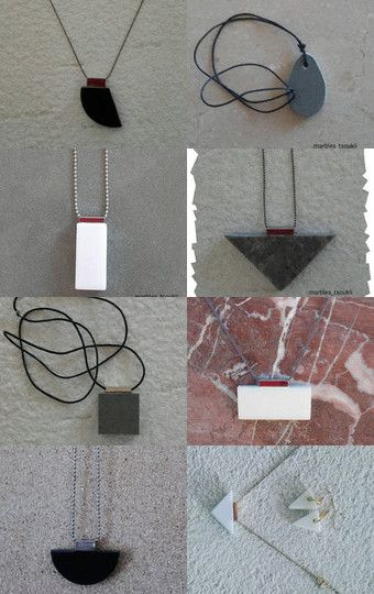 Marble Jewelry   A Gift for her..! by Olga Tsoukli on Etsy--Pinned with TreasuryPin.com