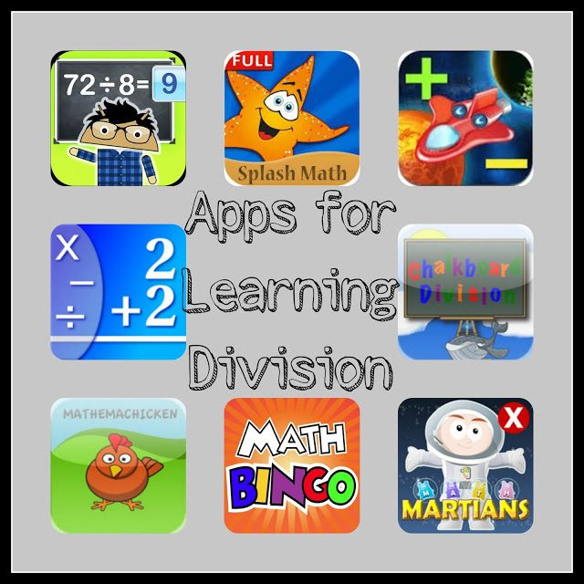 Apps for Learning Division. Plus other games and ideas for learning beginning division