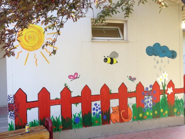 Wall Painting Kindergarten School Wall Art Classroom