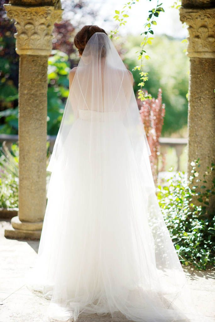 Delightful One Layer Handmade Floor Length Veil Unfinished Edge