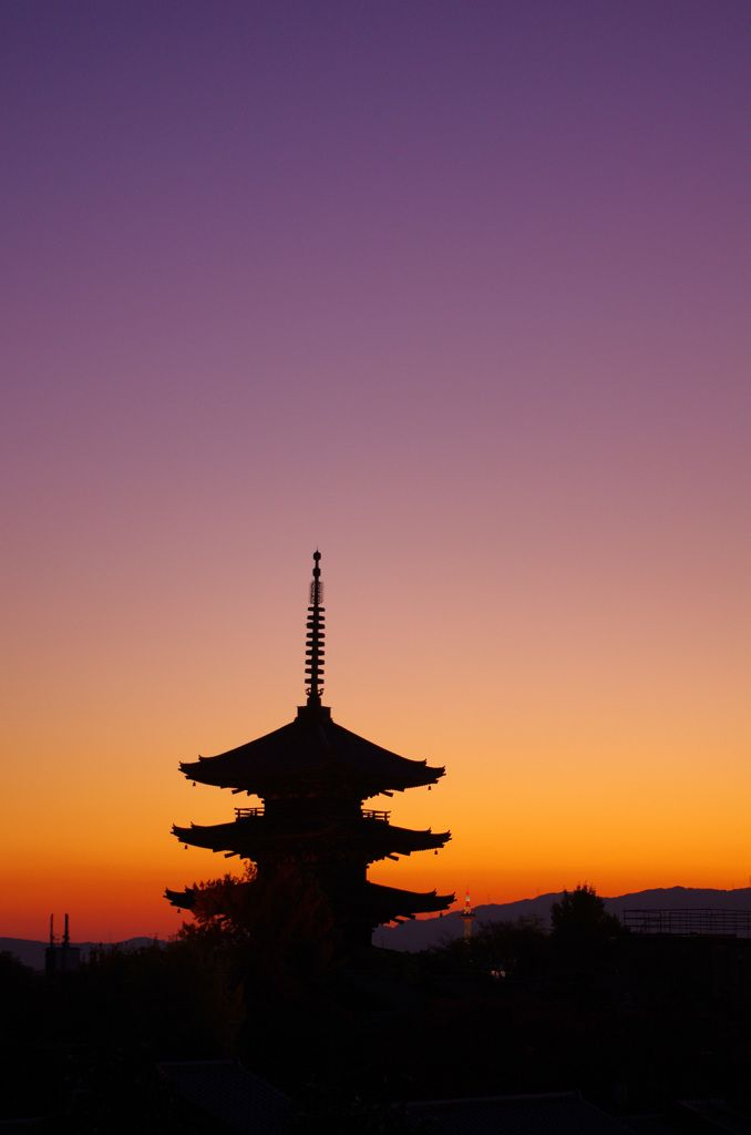 Sunset, Kyoto, Japan