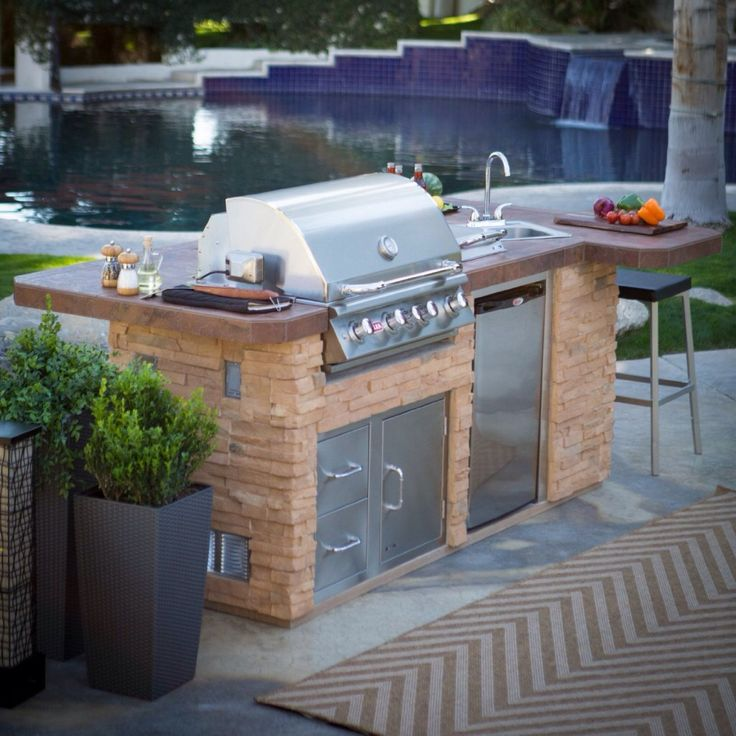 Outdoor Kitchen Grill Island Kit   A Backyard Kitchen Is A Fabulous  Addition To A House, Itu0027s Something Which Will Shift You