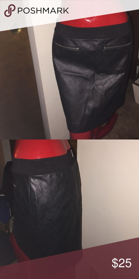 Ann Taylor 6p skirt nwt Ann Taylor leather look dress size 6p nwt Ann Taylor Skirts