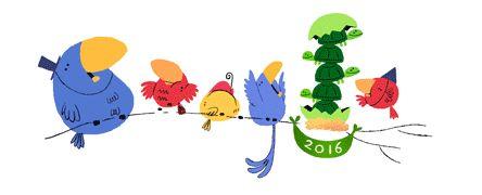Boldog Újévet kíván a Google!