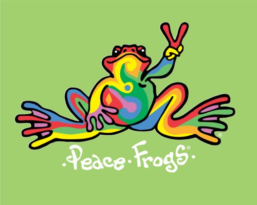 Peace frogs love their designs and shirts and everything fun and a design for