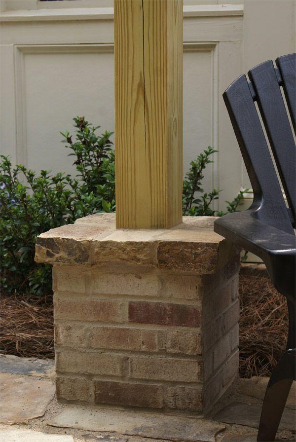 Picture Of Pergolas Around Patio Block Brick Column With