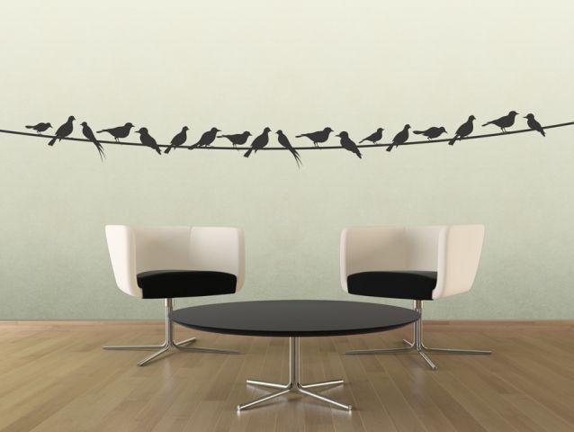 מדבקות קיר ציפורים