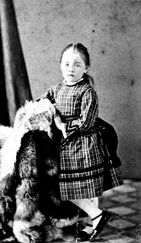 Emily Carr as a child (from: Emily Carr Timeline | Royal BC Museum)