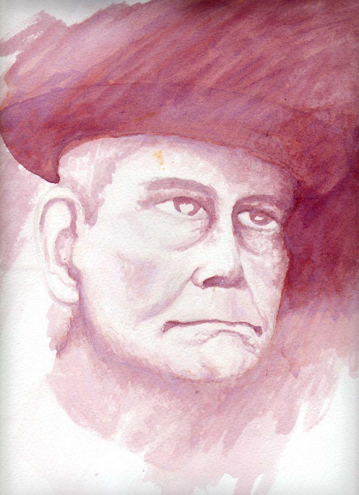 Retrato  tinta sobre papel