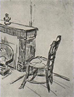 Chair near the Stove - Vincent van Gogh