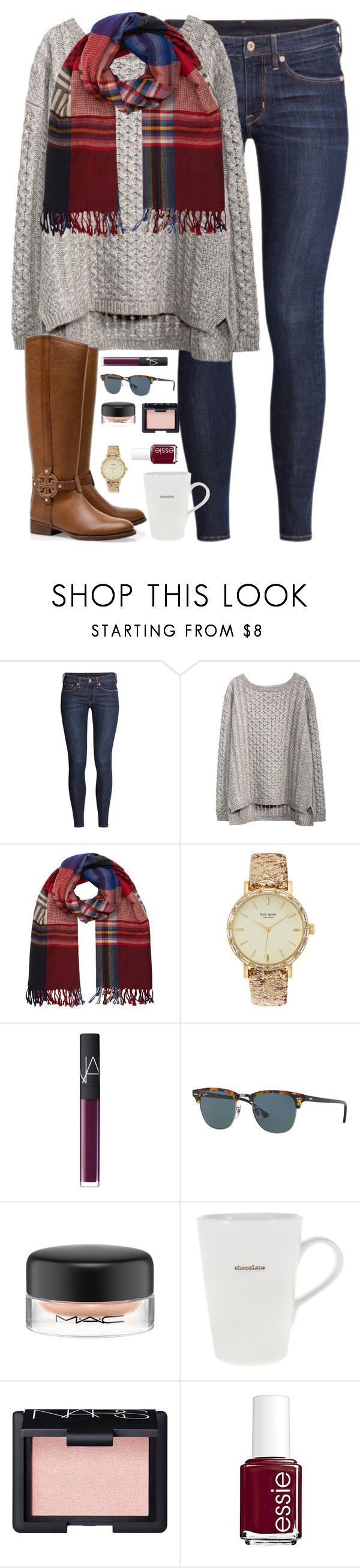 """because of you, I laugh a little harder, cry a little less, and smile a little more."" by kaley-ii ❤ liked on Polyvore featuring H&M, Accessorize, Tory Burch, Kate Spade, NARS Cosmetics, Ray-Ban, MAC Cosmetics, Keith Brymer Jones and Essie"