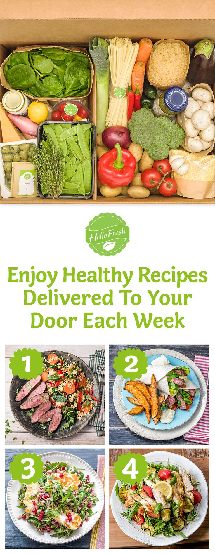 1st step to eating and feeling healthier is as easy as your 1st HelloFresh Box! ➜ Use code HELLOPIN35 at checkout to save $35 on your 1st box! We deliver delicious recipes with all the pre-measured ingredients to your door each week. Ends 30/6/16.