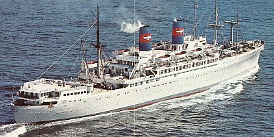 We took President Line ships to and from Japan when I was a kid.  I know that we took the President Cleveland one way, and we took the President Wilson the other way.  Accommodations were pretty basic back then when compared to modern cruise travel.  My brother was a baby, so they put a fish net over his bunk so that he wouldn't fall out.