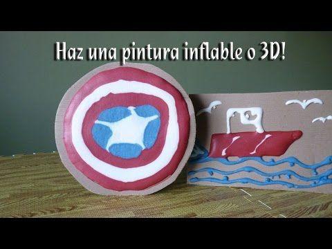 Como hacer una pintura inflable o en 3D - YouTube