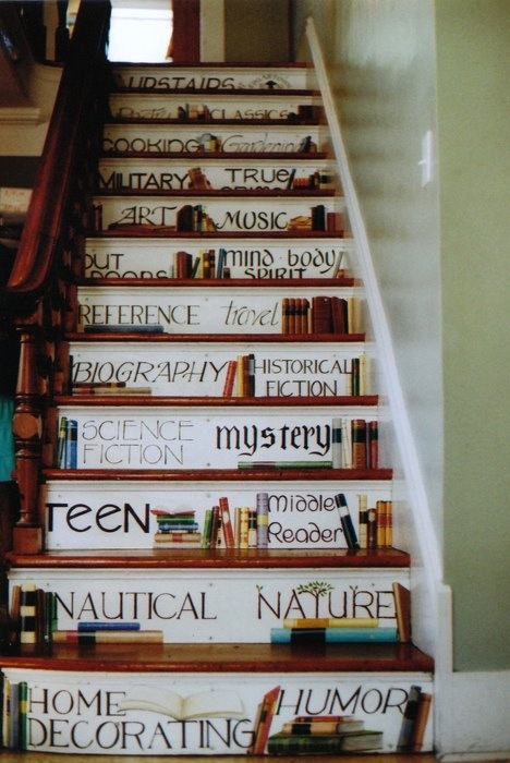 Another Booklover's Staircase: Decor Ideas, Favorite Places, Stairs, Martha Vineyard, Bookish Things, Cute Ideas, Houses Ideas, Interiors Design, Edgartown Books