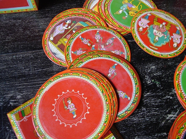Ganjifa cards created in Sindhudurg, India. Photo: Frederick FN Noronha , 2007