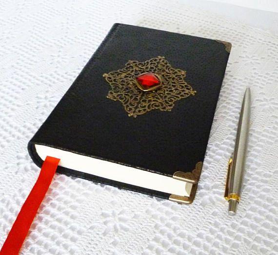 #blackjournal #magicspells #wizardbook #diary #notebook #leatherjournal