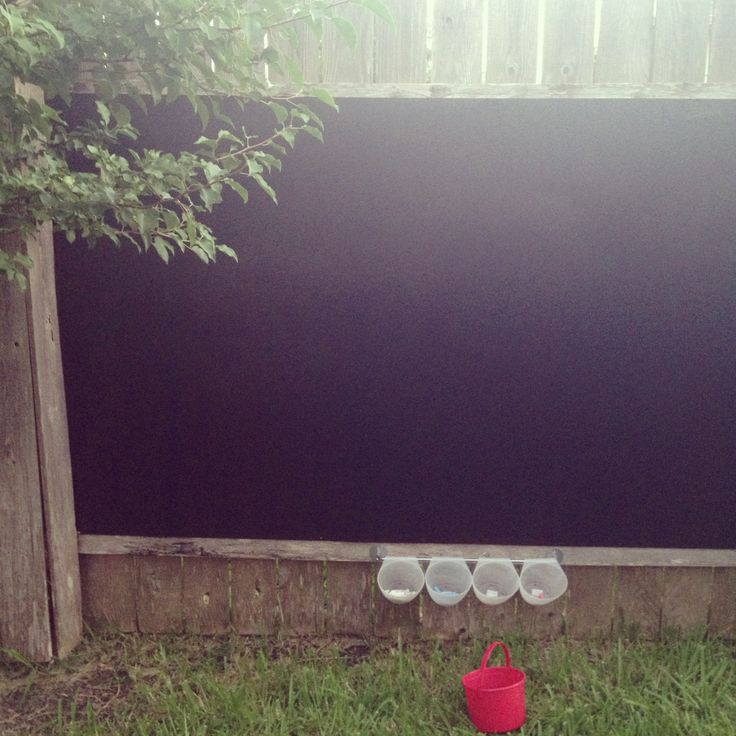This will be perfect for when we decide to have children. DIY backyard chalkboard $30