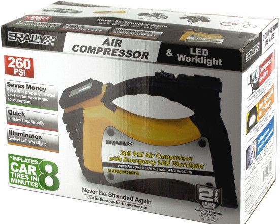 rally auto air compressor & led worklight Case of 4