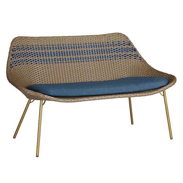 BuyJohn Lewis Dakara (Fusion) Havana 2 Seater Sofa, Brown / Blue Online at johnlewis.com