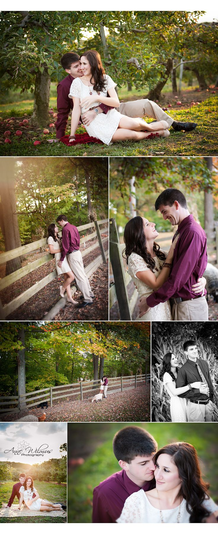 Our engagement shoot. AnneWilmusPhotography. Fall, autumn, apple orchard, simmons farm, Pittsburgh engagement photographer