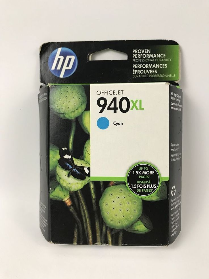 GENUINE HP 940XL Cyan Ink Cartridge OFFICEJET C4907AN 2013-2015 FACTORY SEALED #HP