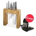 Global Ikasu 7pc Knife Block Set with Bonus Furi Knife Sharpener