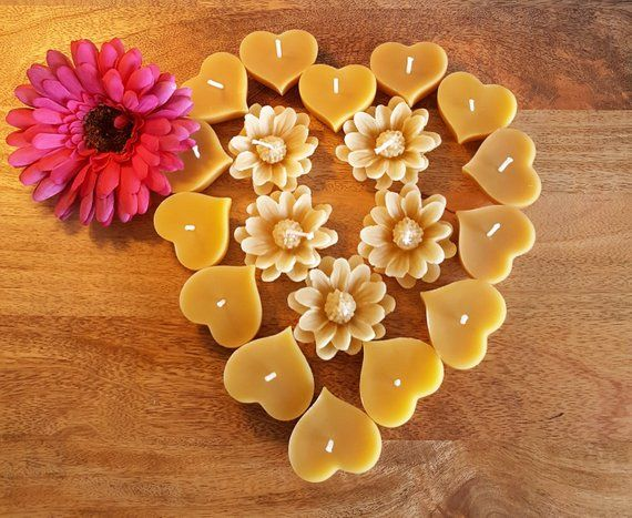floating chrysanthemum flower Beeswax Candles