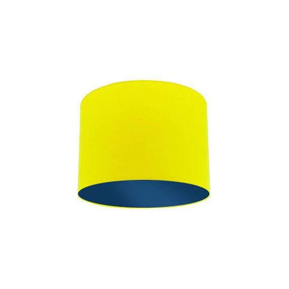 Yellow Lamp Shade with Dark Blue Lining