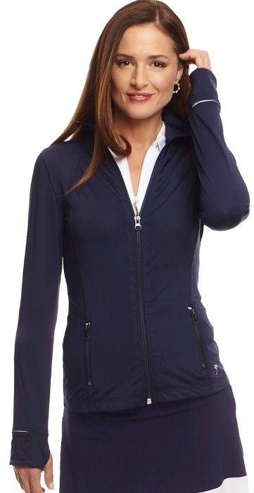 Check out what #lorisgolfshoppe has for your days on and off the golf course! Golftini Ladies GT Tech Golf Jackets - Navy