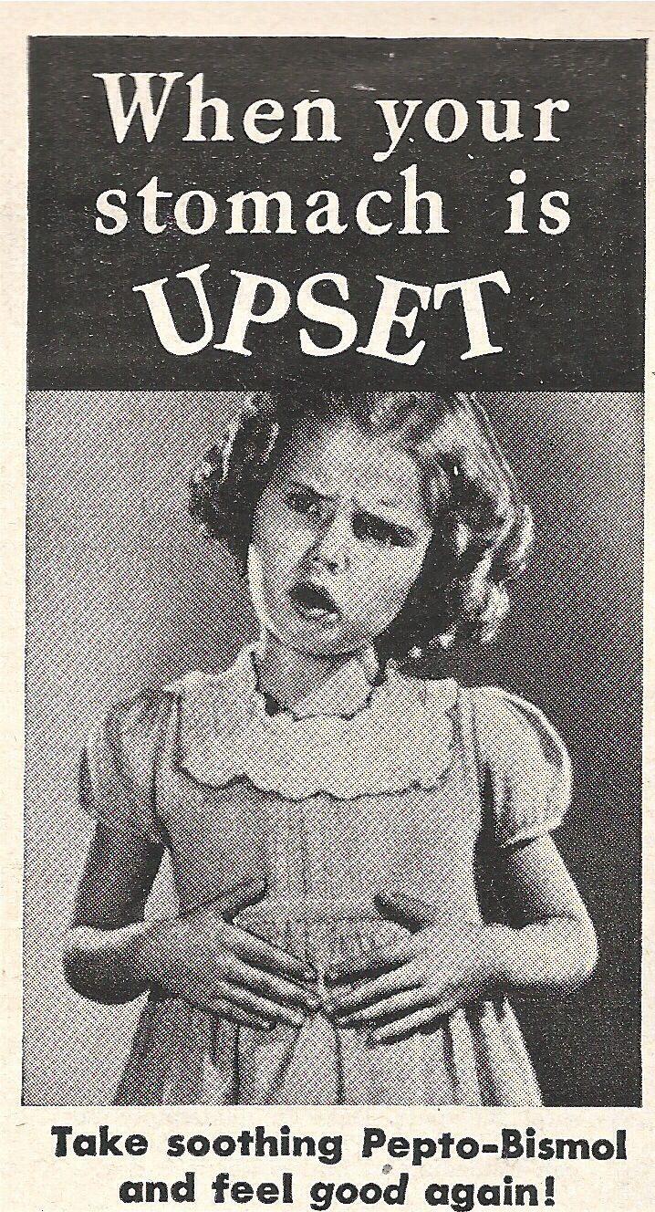 Pepto Bismol. 1950s advertisement