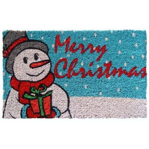 "Entryways Snowmen Wishes Hand Woven Coir Doormat by Entryways. $29.99. Hand made from all-natural coconut fiber which is an excellent dirt-trapper; 3/4"" thickness. 18 in x 30 in. This mat is hand stenciled with permanent fade-resistant dyes. This beautifully designed hand-woven doormat will enhance your entry way or patio. It's made from the highest quality all natural coconut fiber.. Save 25%!"