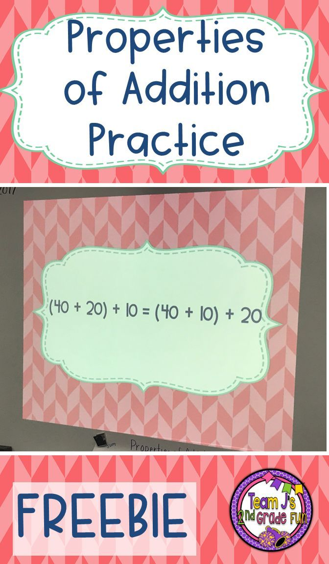 FREEBIE - Quick whole group practice for identifying property of addition and finding the missing number.