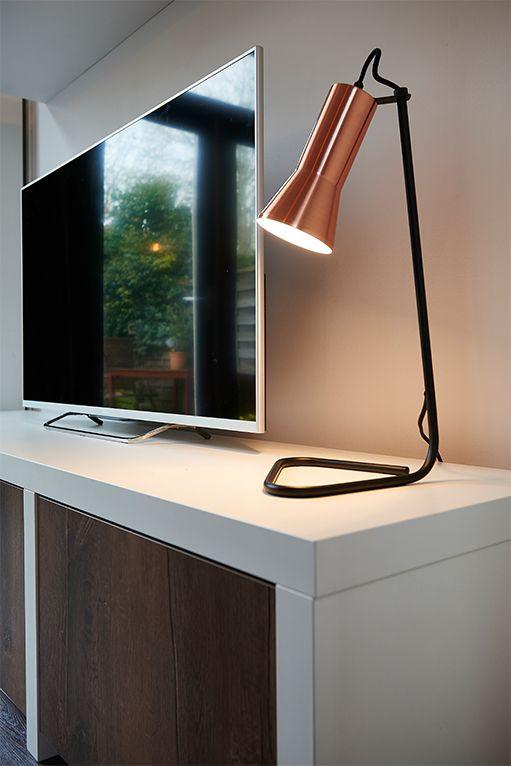 Tafellamp Prezioso - sfeervol en stoer in koper - Goossens wonen & slapen
