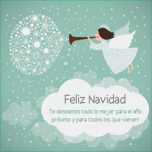 El Angel de Navidad-Celebra con estilo con las invitaciones y tarjetas virtuales de LaBelleCarte: www.LaBelleCarte.com
