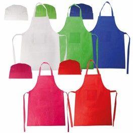 Set delantal y gorro para los peques cocineros - detallesparainvitados.com